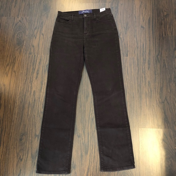 NYDJ Denim - NYDJ Jeans Size 10 Brown Straight Leg 31x33